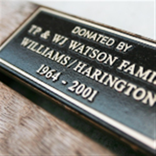 Purchase a plaque for your family